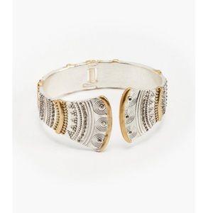 🍋 nwot   lucky brand   two-tone hinge bracelet